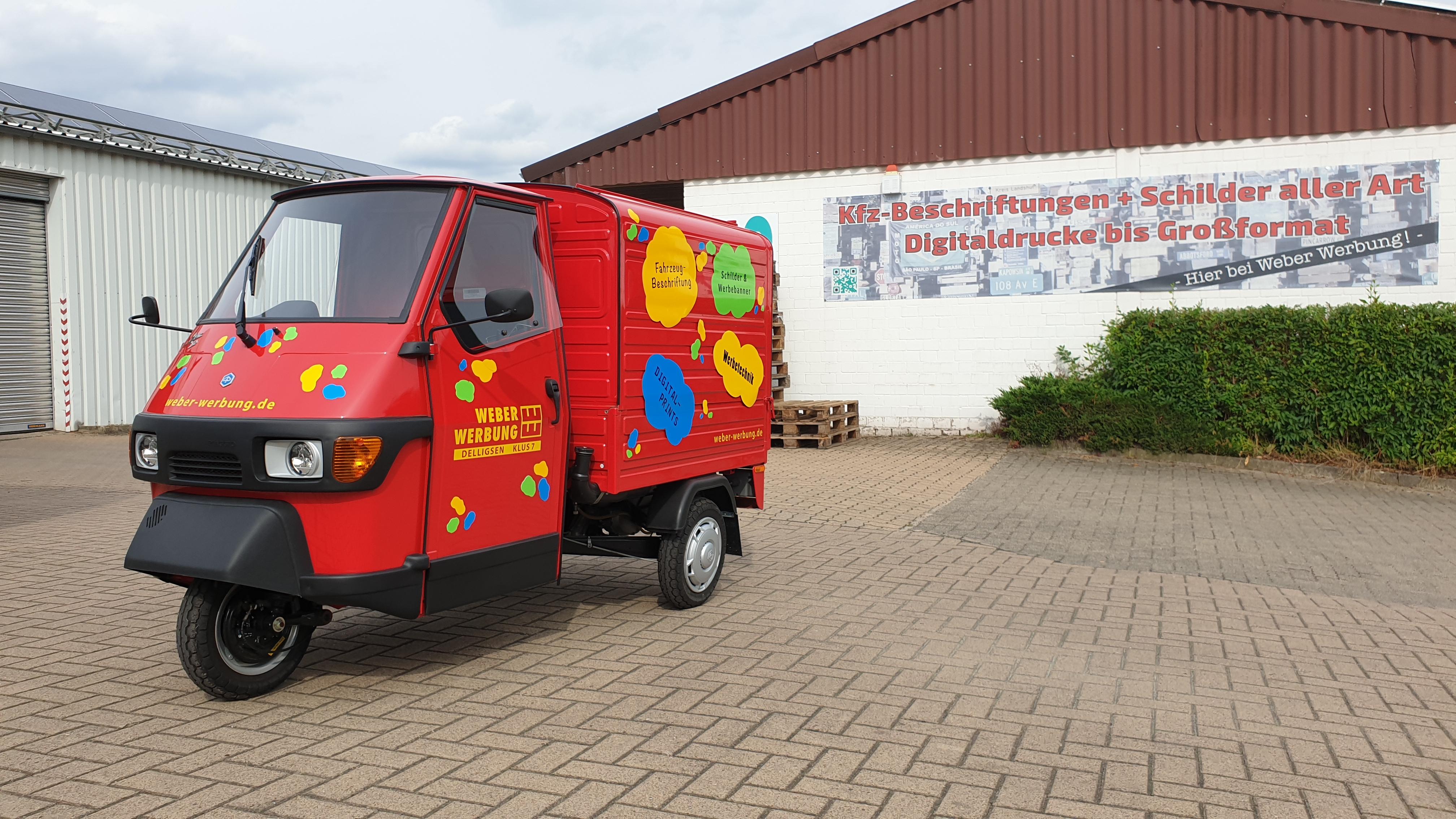 Piaggio Ape KFZ-Beschriftung Region Hannover