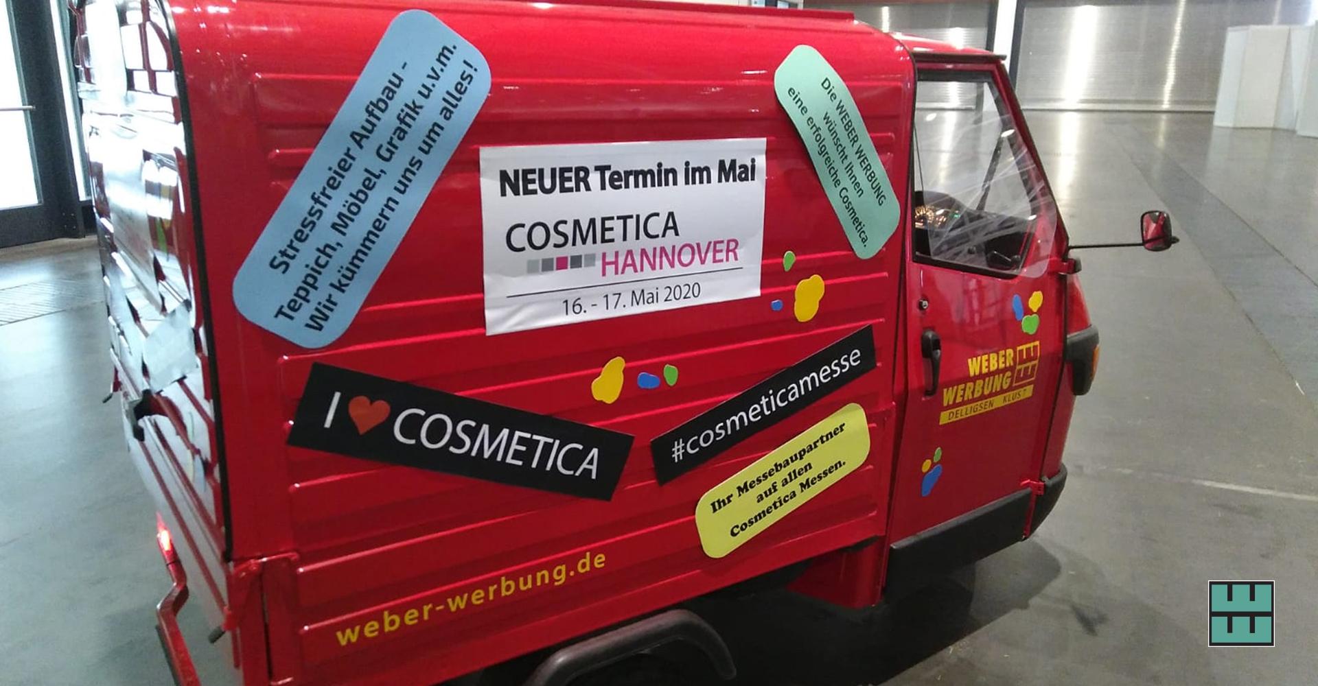 Cosmetica Hannover 2019 Messebau Work in Progress Alfeld Niedersachsen