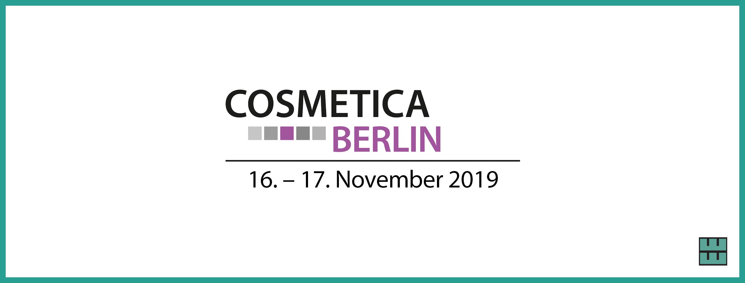 Cosmetica Berlin 2019 Messebau Weber Werbung Niedersachsen