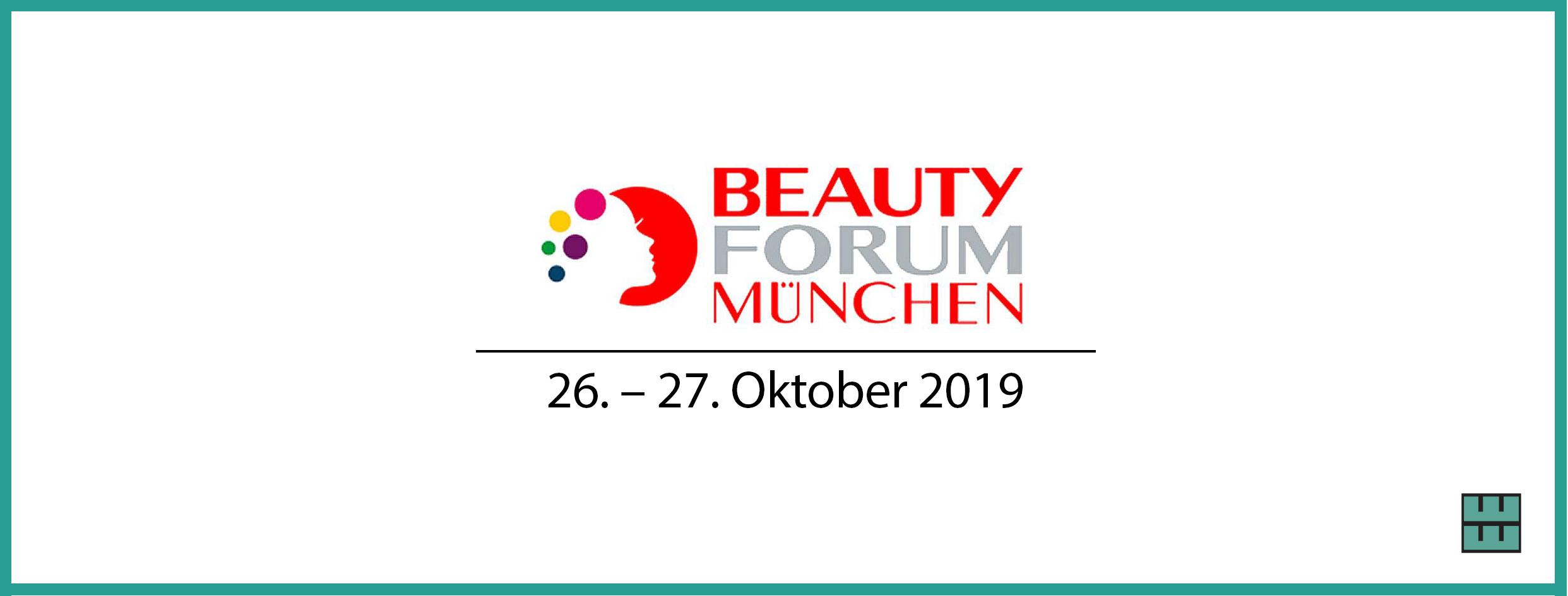Beauty Forum München 2019 Messebau Hannover Alfeld Weber Werbung