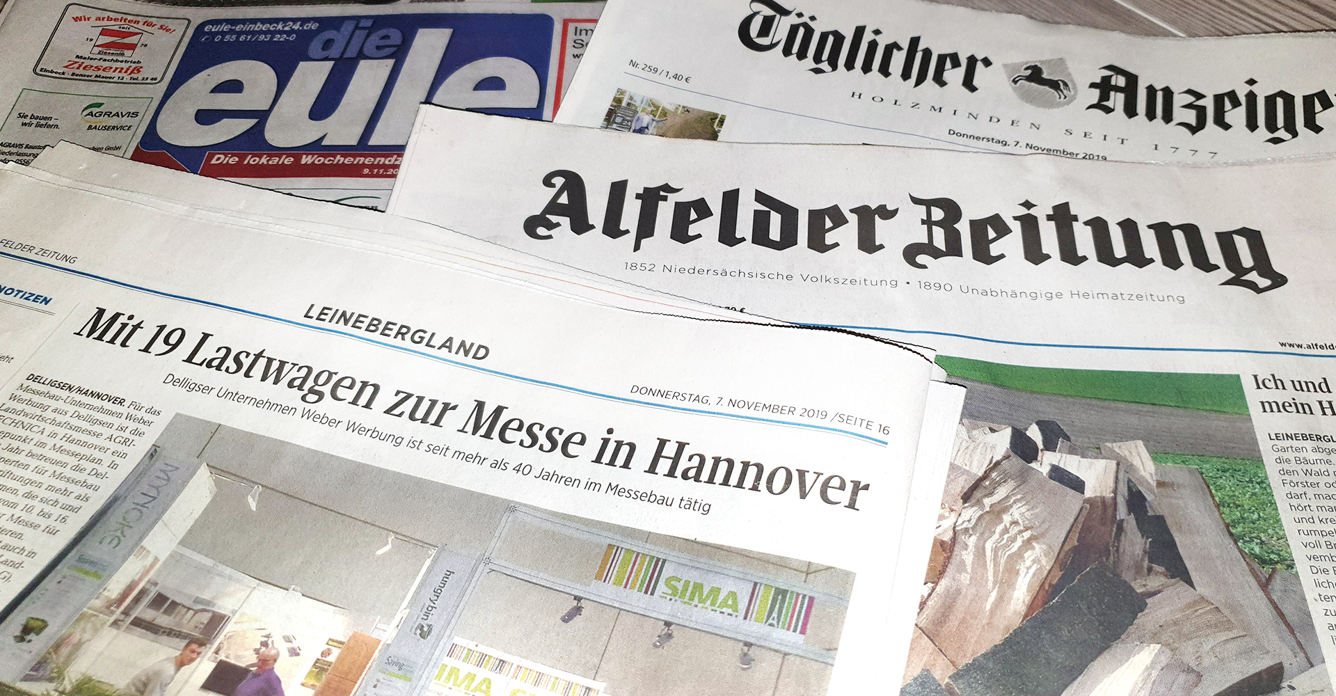 Alfelder Zeitung TAH Eule Weber Werbung Agritechnica