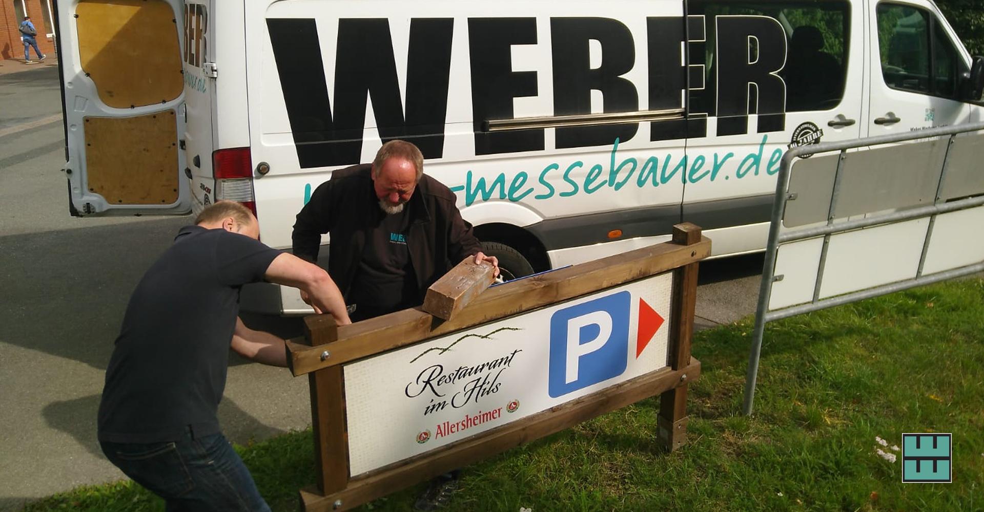 Weber Werbung unterstützt Rosins Restaurants in Grünenplan mit Schildern