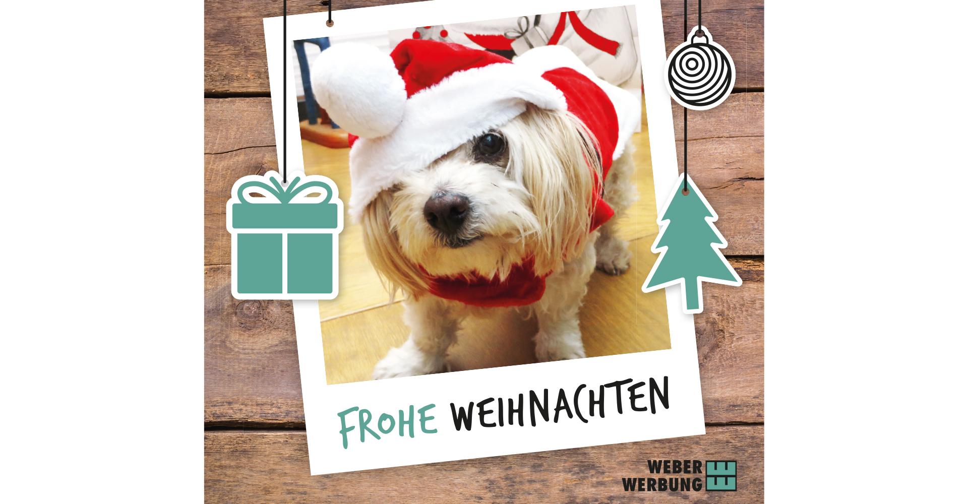 Frohe Weihnachten wünscht Weber Werbung Delligsen