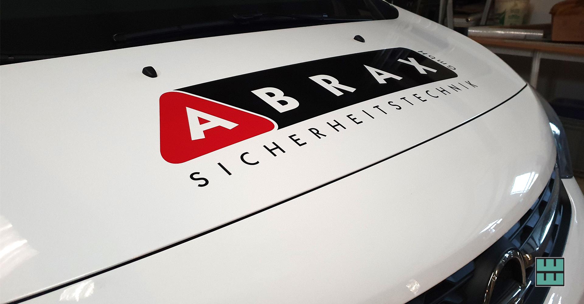 Abrax Sicherheitstechnik KFZ-Beschriftung