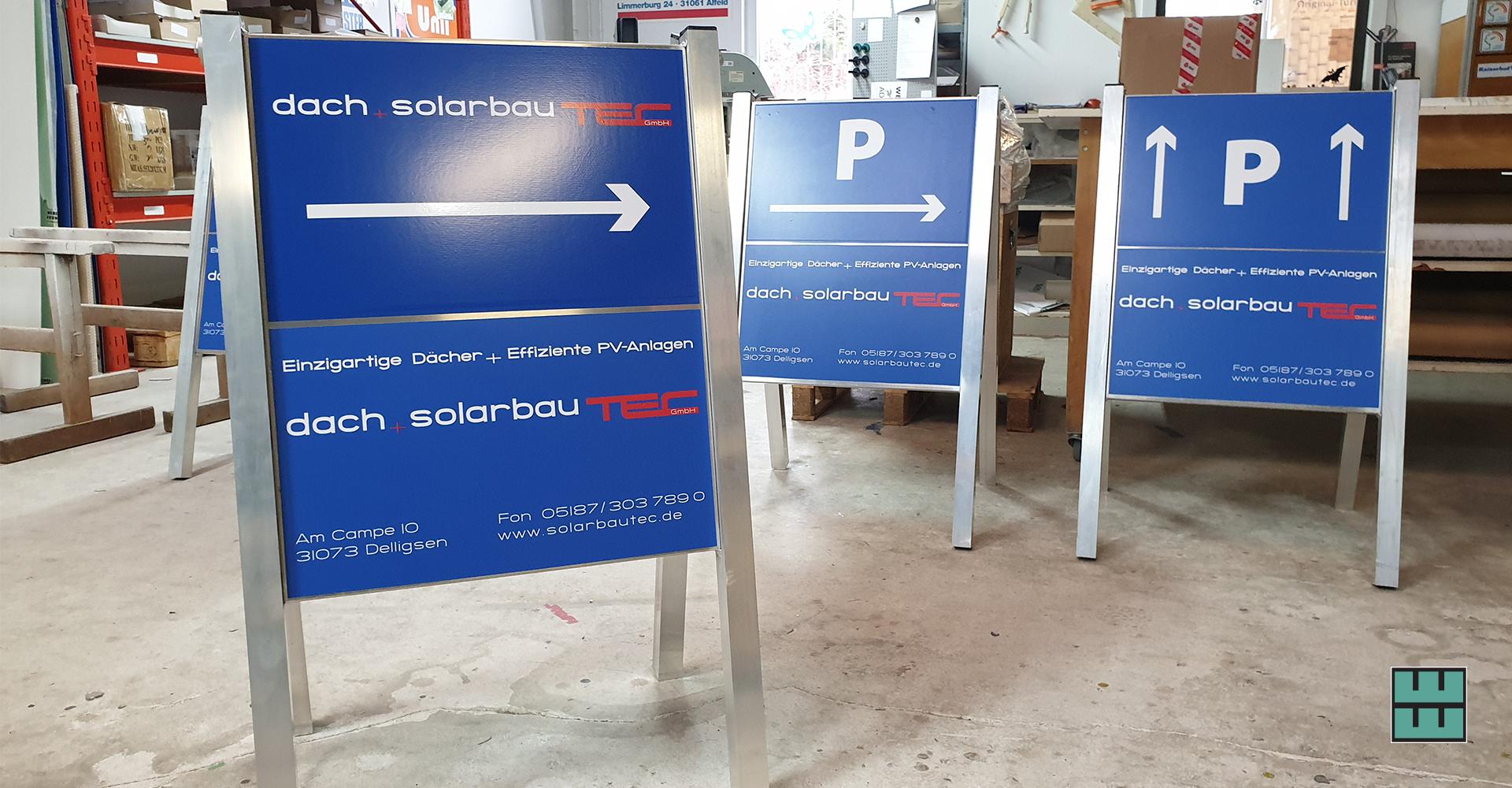 Kundenstopper für das Firmenjubiläum von Solarbautec in Delligsen