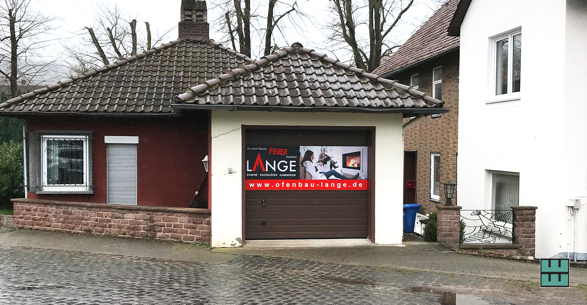 Auch Ofenbau Lange hat neue Schilder erhalten. Weber Werbung hat den Druck sowie die Montage übernommen.