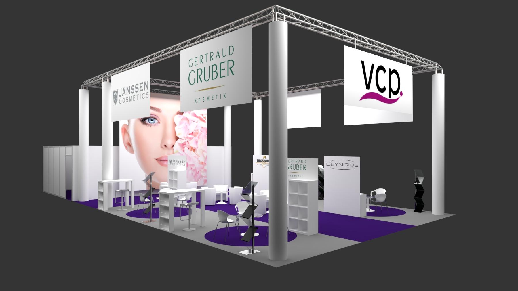 VCP auf den Cosmetica Messen von Weber Werbung (Messebau aus Hannover)