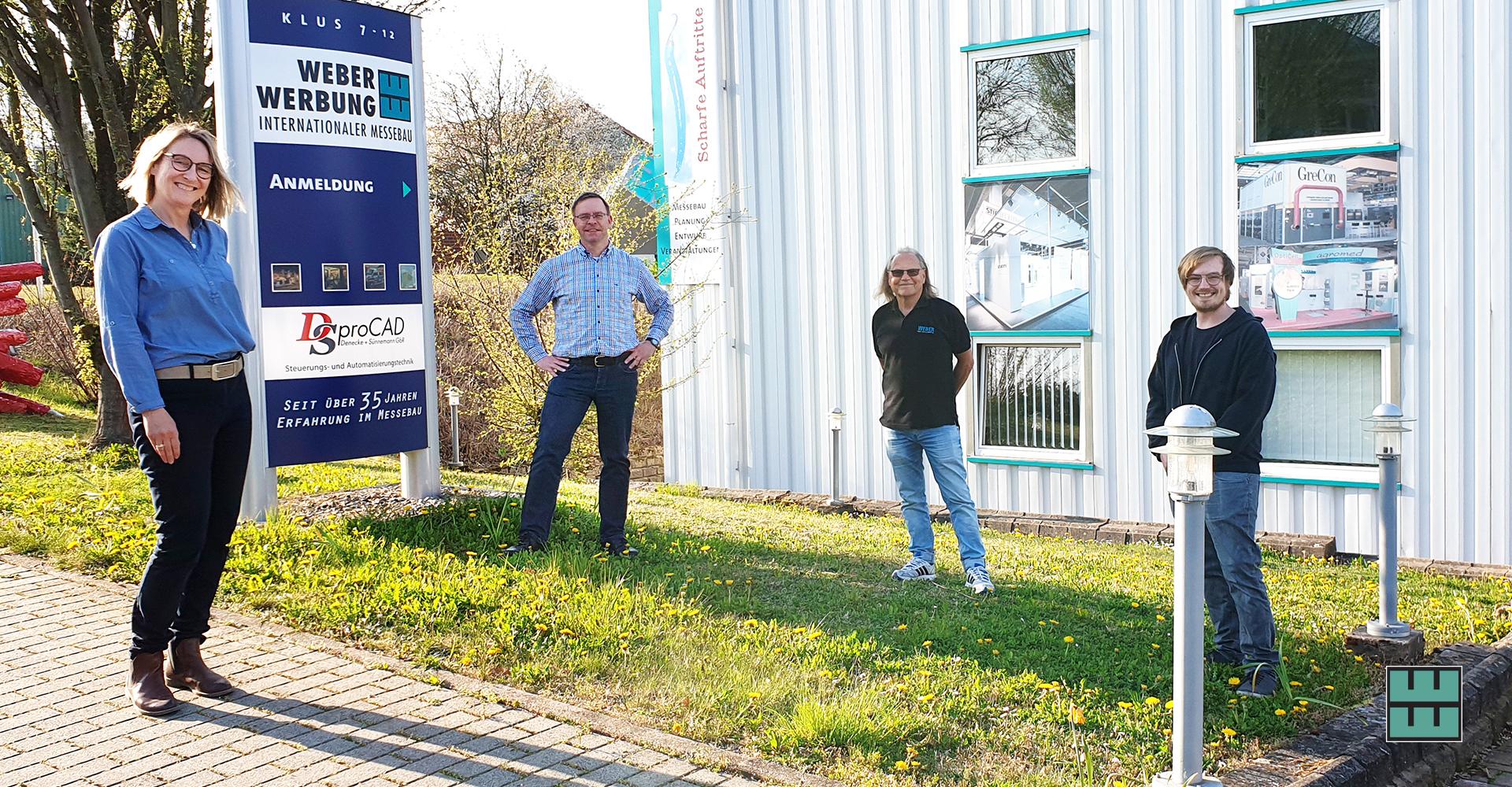 Delligsens Bürgermeister Stephan Willuda hatte ein offenes Ohr für die aktuelle Corona-Problematik unseres Familienunternehmens und der Messebau-Branche.