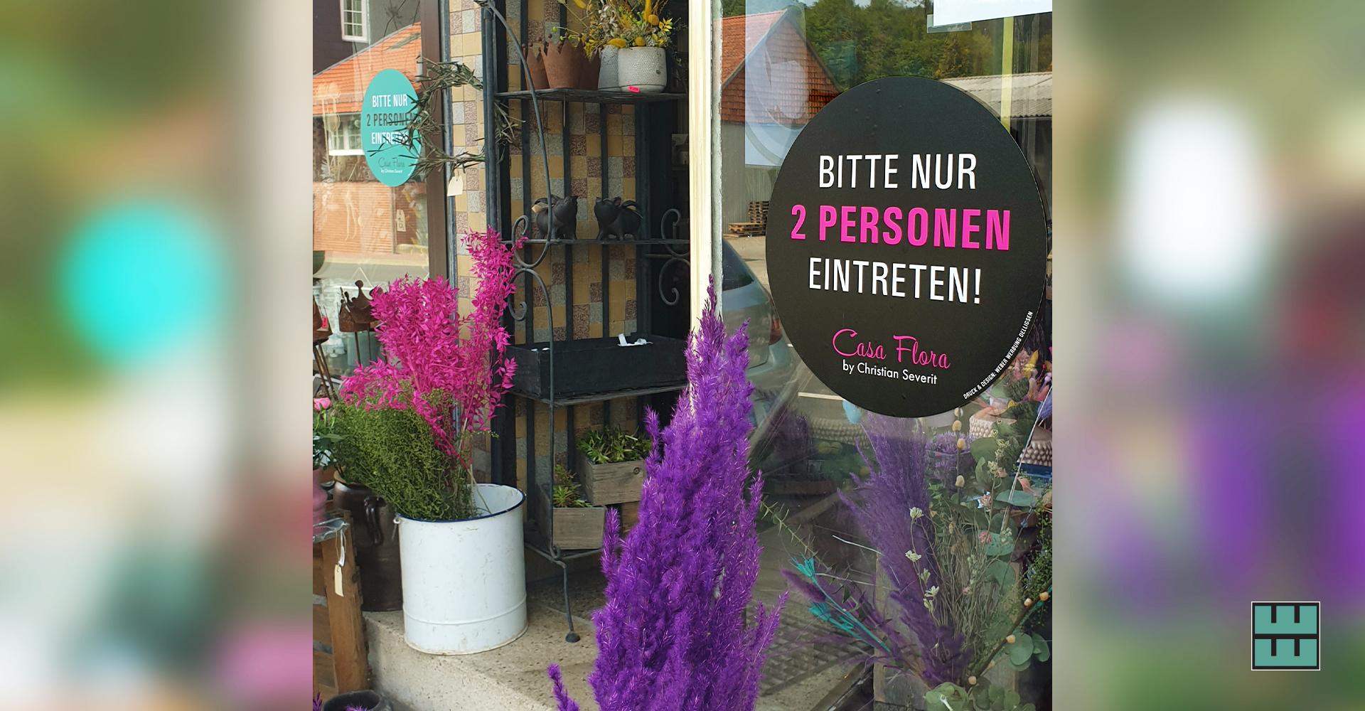Casa Flora by Christian Severit hält sich an die Corona-Hygieneregeln (Grünenplan)