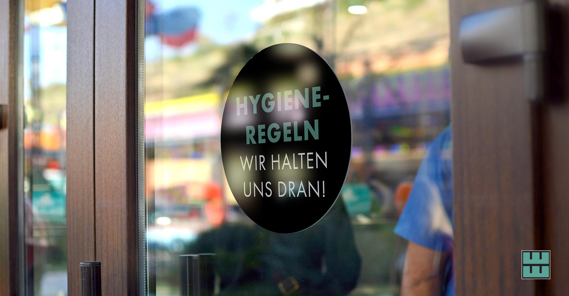 Ab dem 11.05.2020 darf die Gastronomie wieder öffnen! Jetzt Hygieneschutz sichern: Hinweise als Aufkleber
