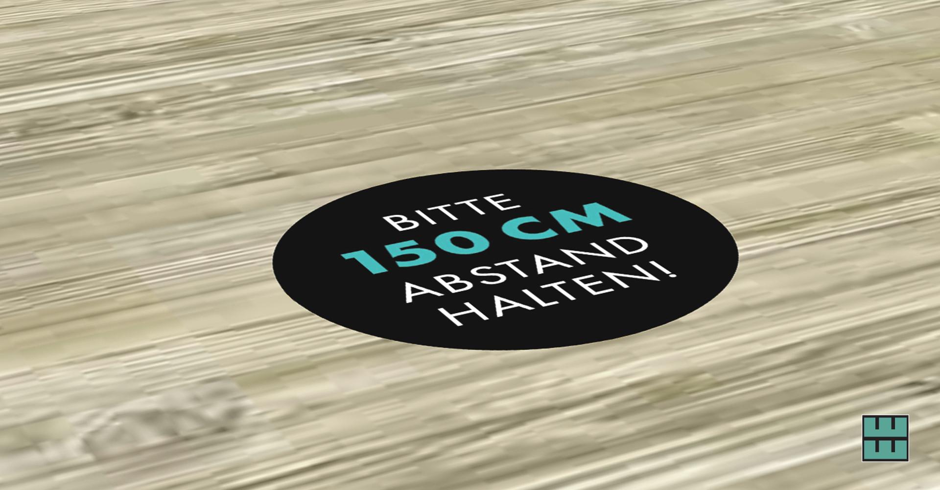 Ab dem 11.05.2020 darf die Gastronomie wieder öffnen! Jetzt Hygieneschutz sichern: Boden-Aufkleber als Abstandshalter