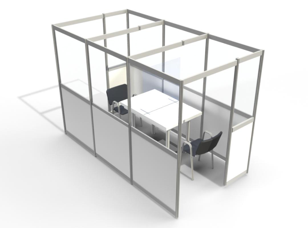 Besucherbox für Krankenhäuser und Altersheime zum Hygieneschutz vor Corona.