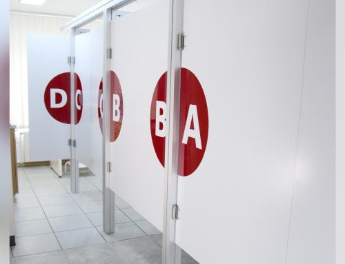 Neue Kabinen für Orthopädie Alfeld