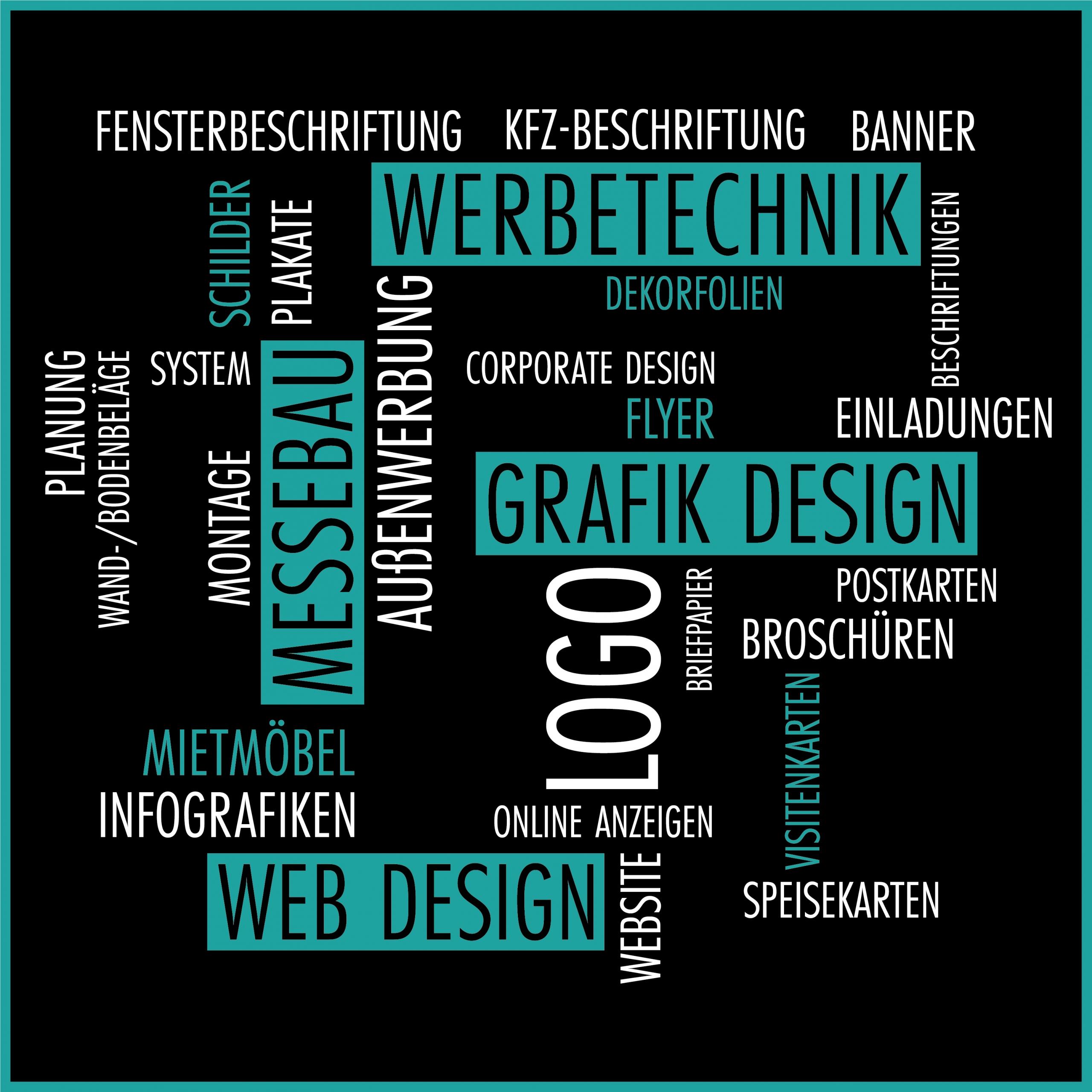 Weber Werbung Delligsen Infografik: Angebot im Bereich Messebau, Beschriftungen, Werbetechnik, Design