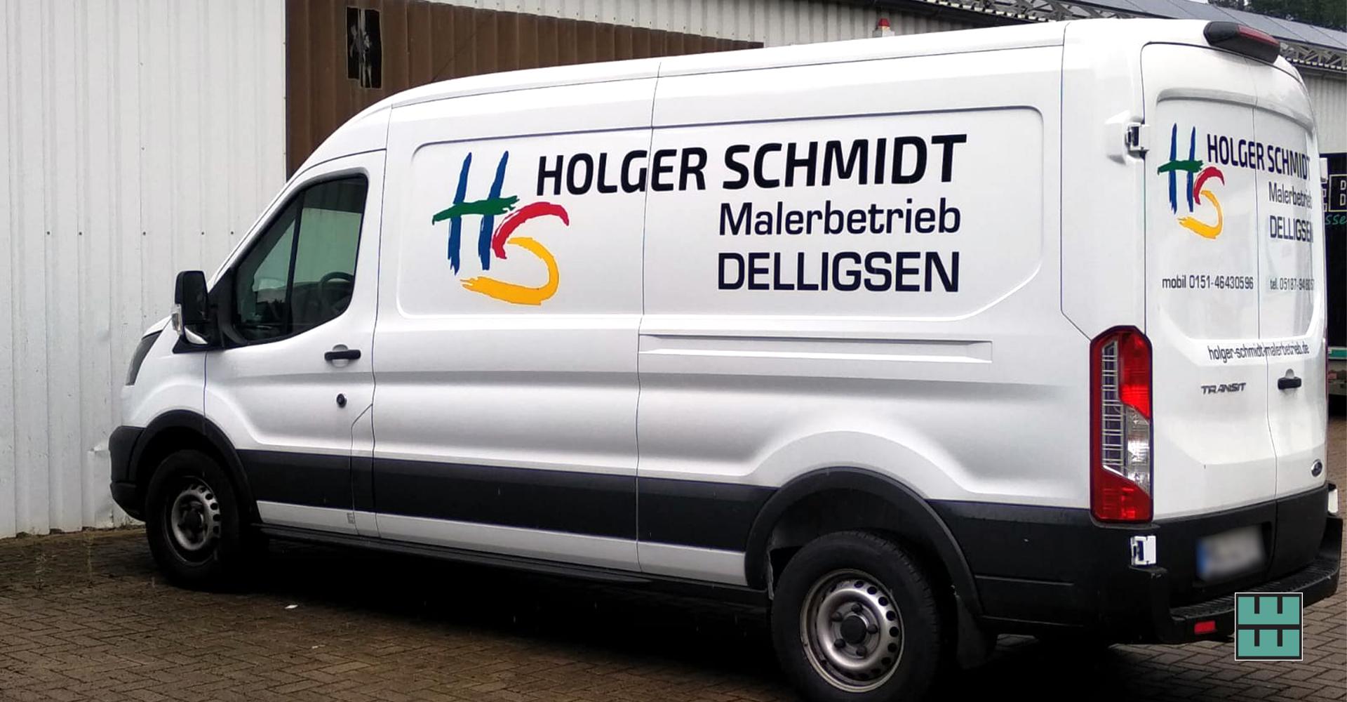 Neue KFZ-Beschriftung für den Malerbetrieb Holger Schmidt aus Delligsen