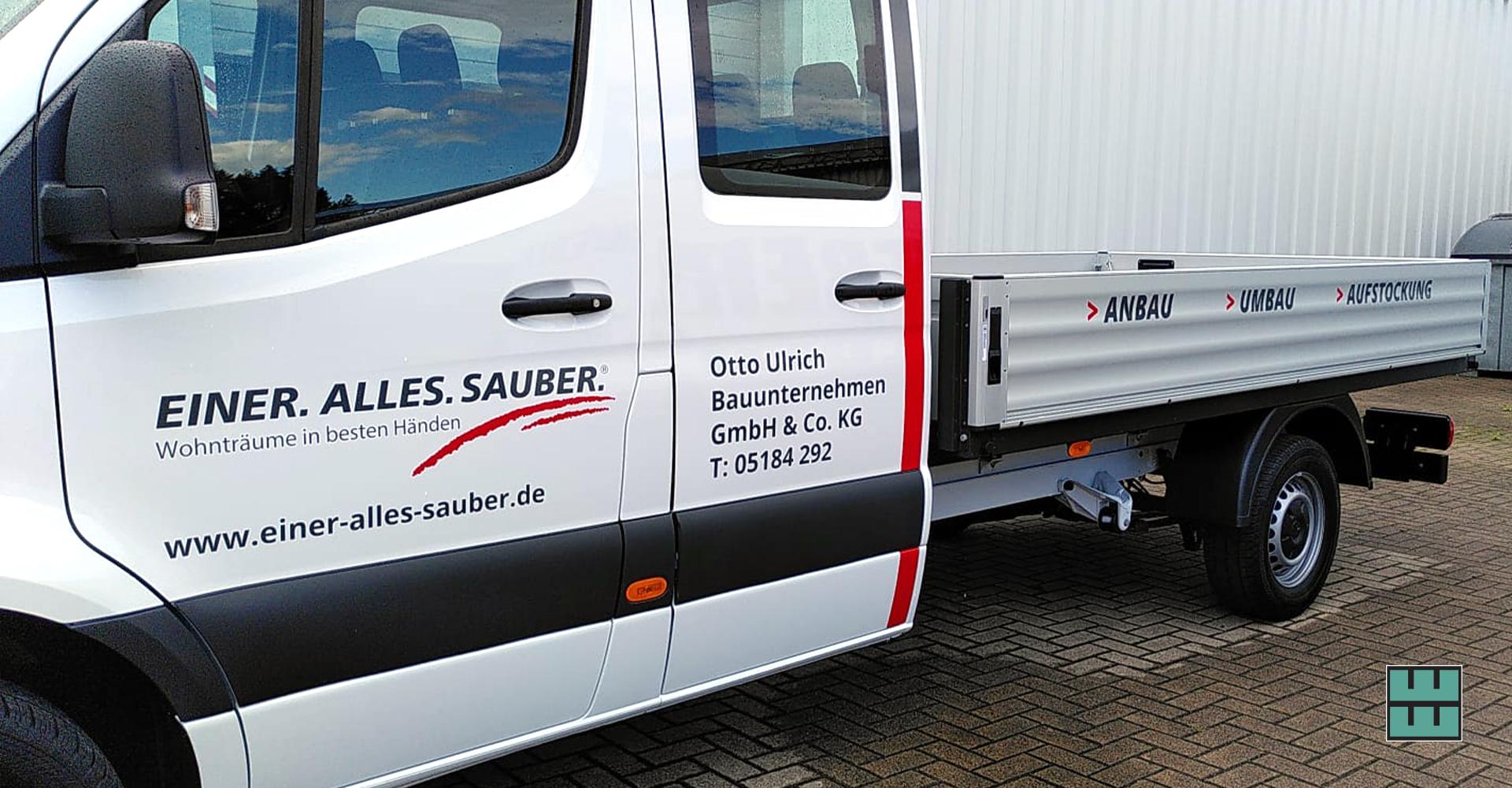 Neue KFZ-Beschriftung für das Bauunternehmen Otto Ulrich