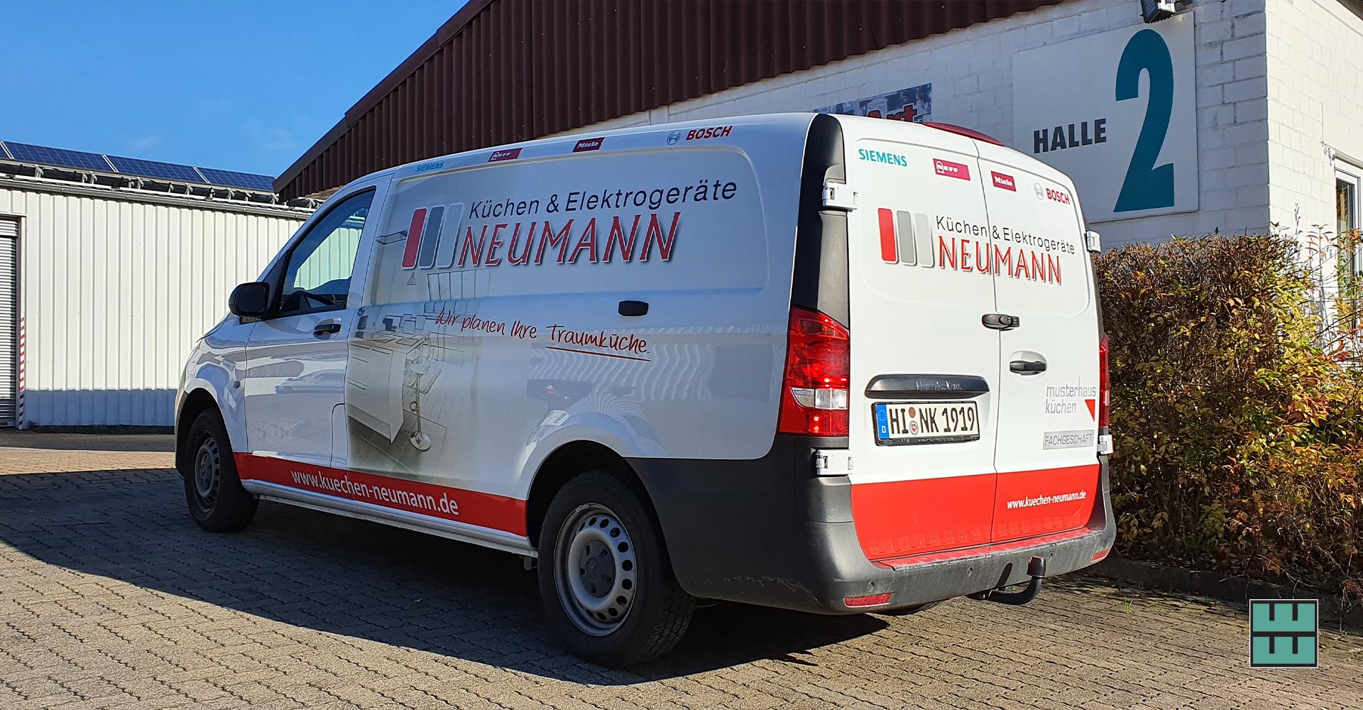 Neue KFZ-Beschriftung für den Küchenexperten Neumann