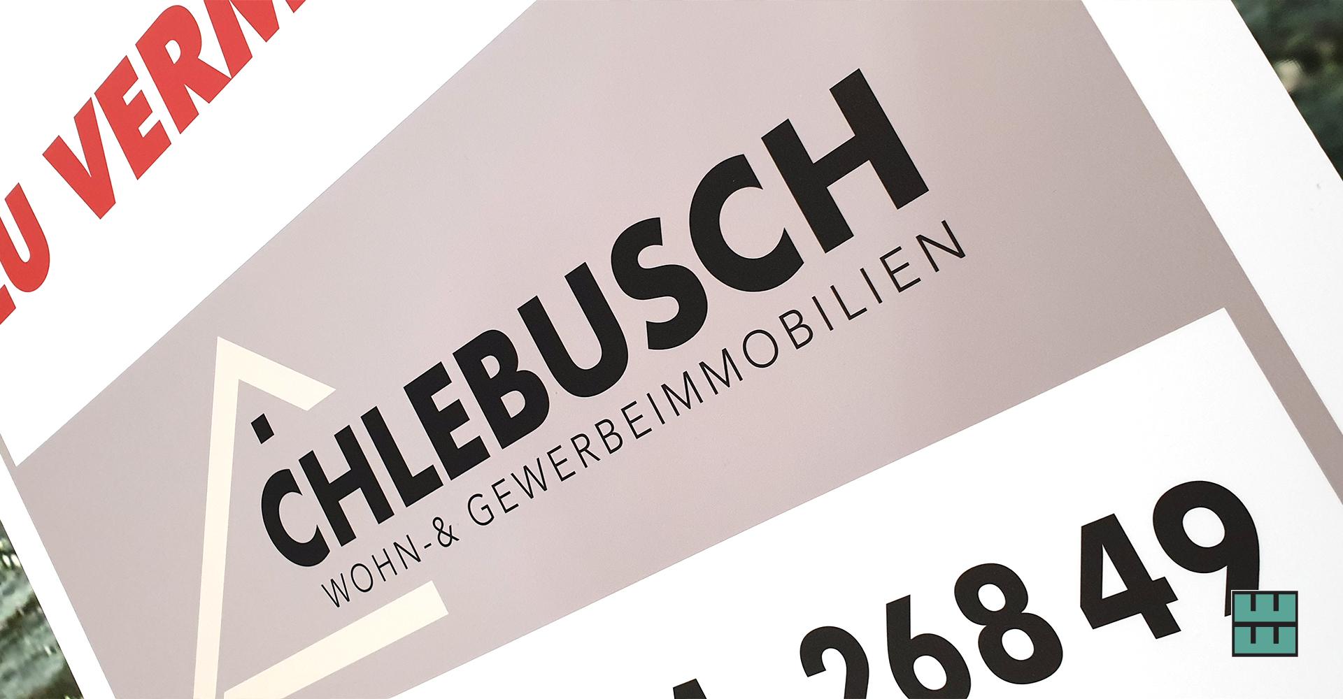 Für das Architekturbüro Chlebusch aus Alfeld durften wir ein neues Schild anfertigen.