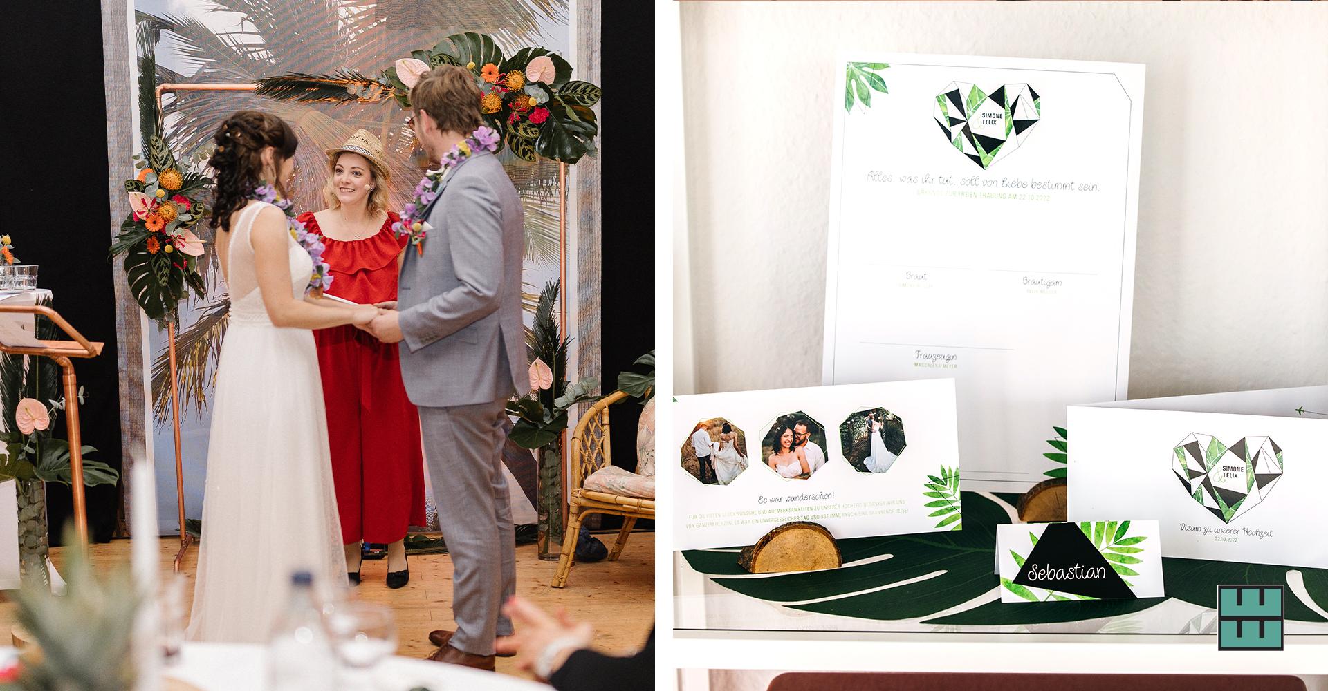 Zur Hochzeit unseres firmeninternen Brautpaares Nadine und Rafael haben wir mit tollen Dienstleistern eine exotisches Event kreiert.