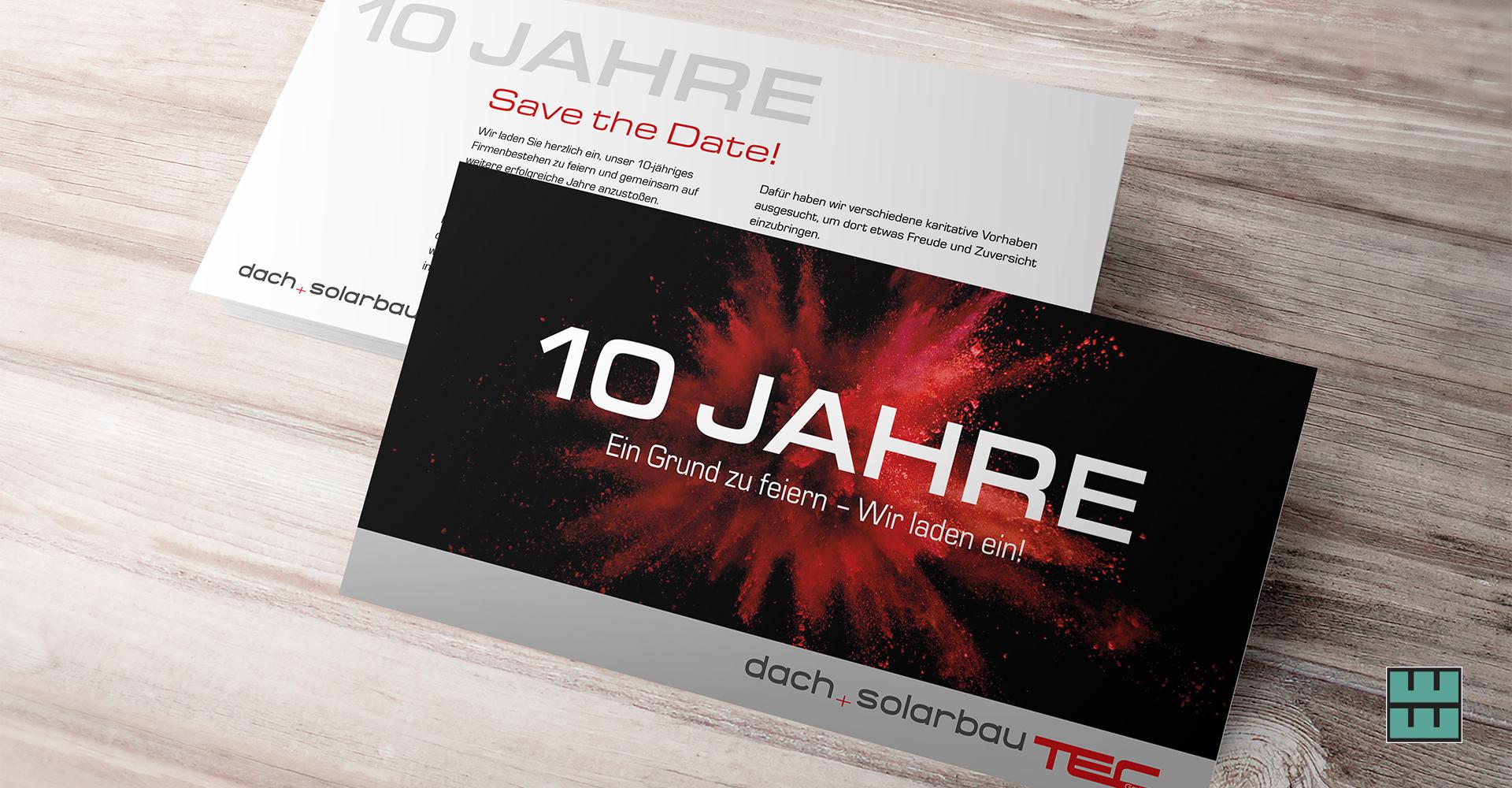 Einladungskarte / Flyer für Solarbautec aus Delligsen