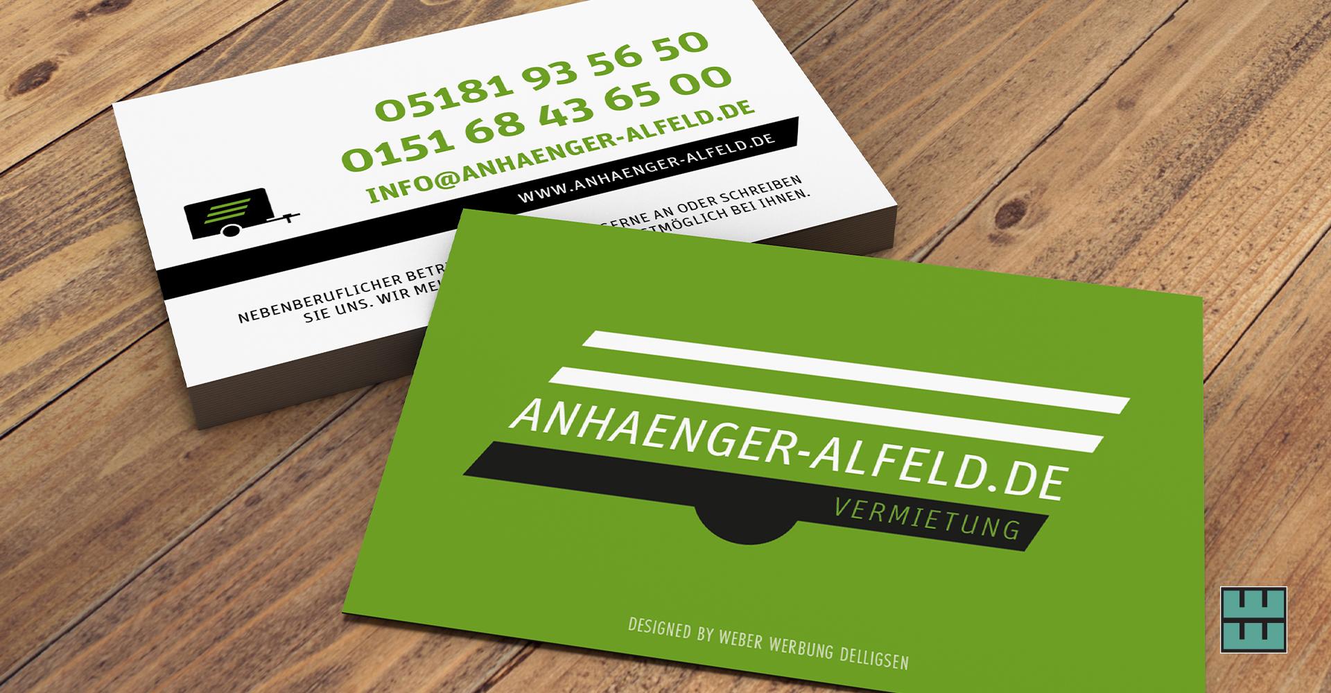 Visitenkarten-Gestaltung für Anhänger-Alfeld.de