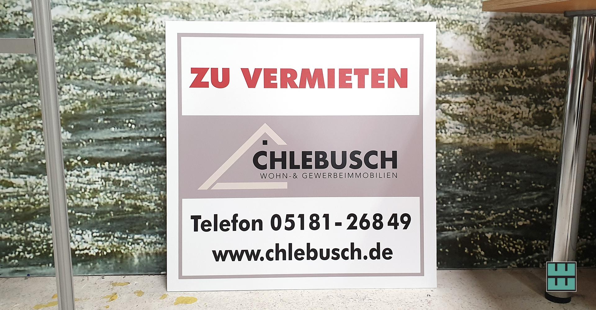Neues Schild für Chlebusch Alfeld