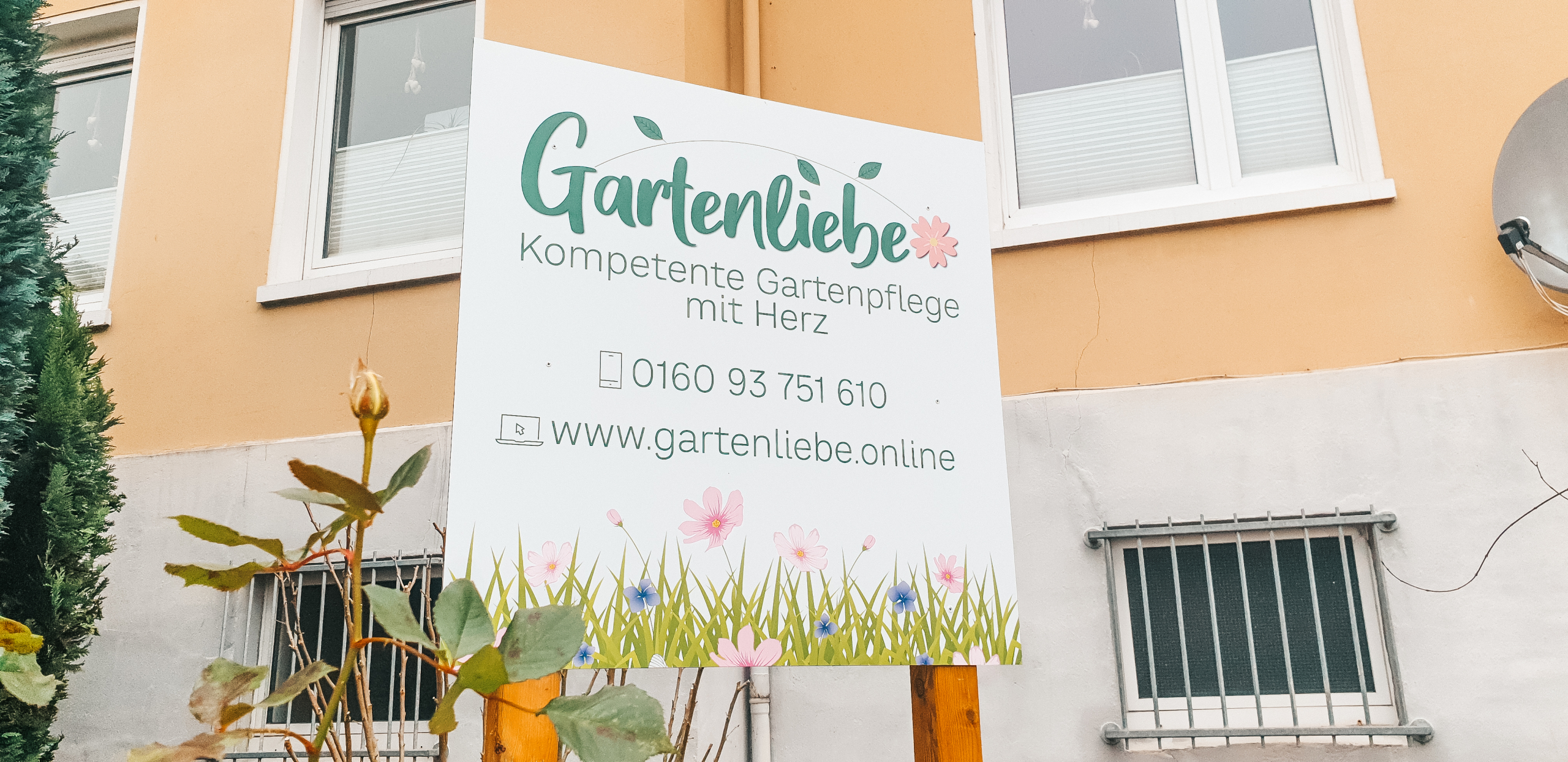 Neues Schild für Gartenliebe Alfeld