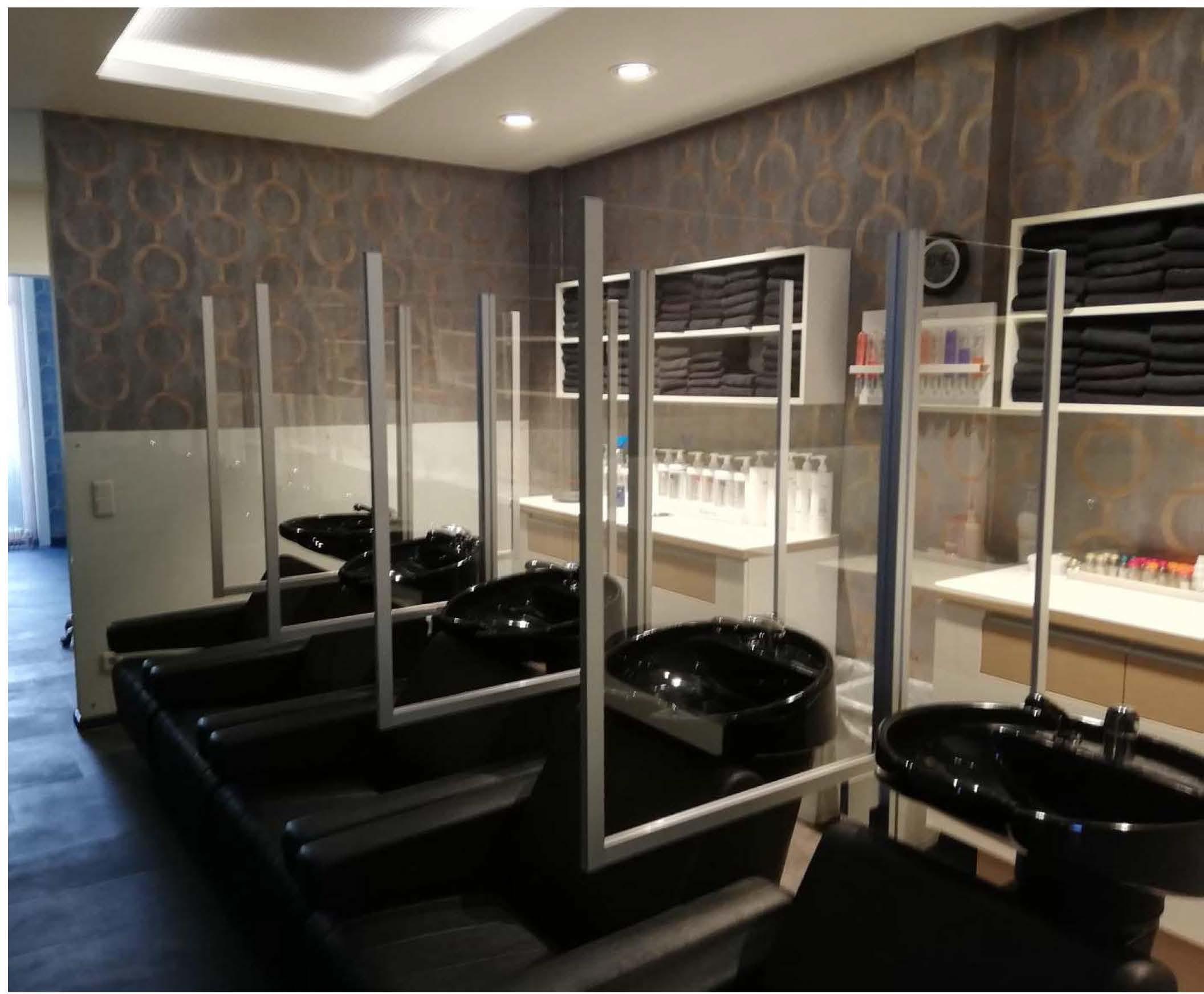 Corona Schutz: Hygieneschutzwände für Friseur