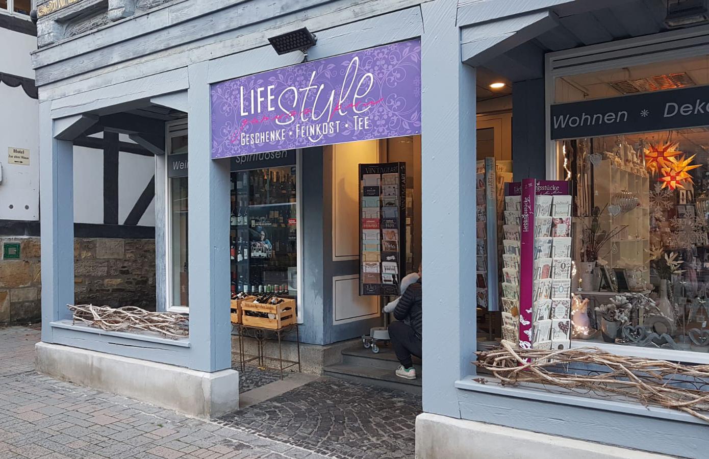 Neues Schild für LifeStyle Goslar
