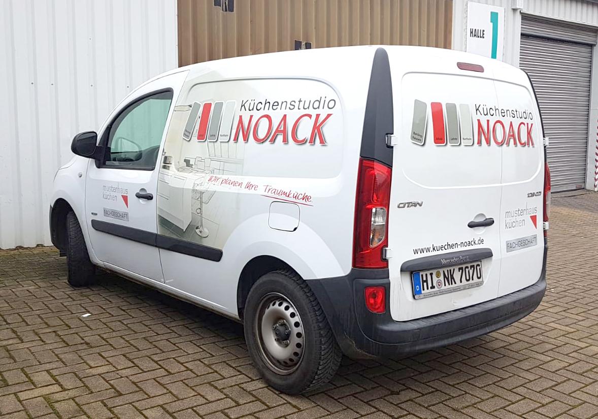 Neue Fahrzeug-Beschriftung für Noack