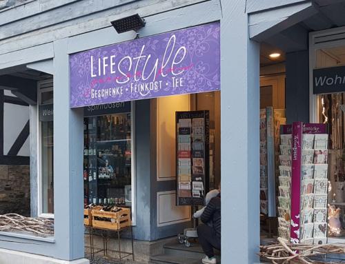Schild für LIFEstyle in Goslar