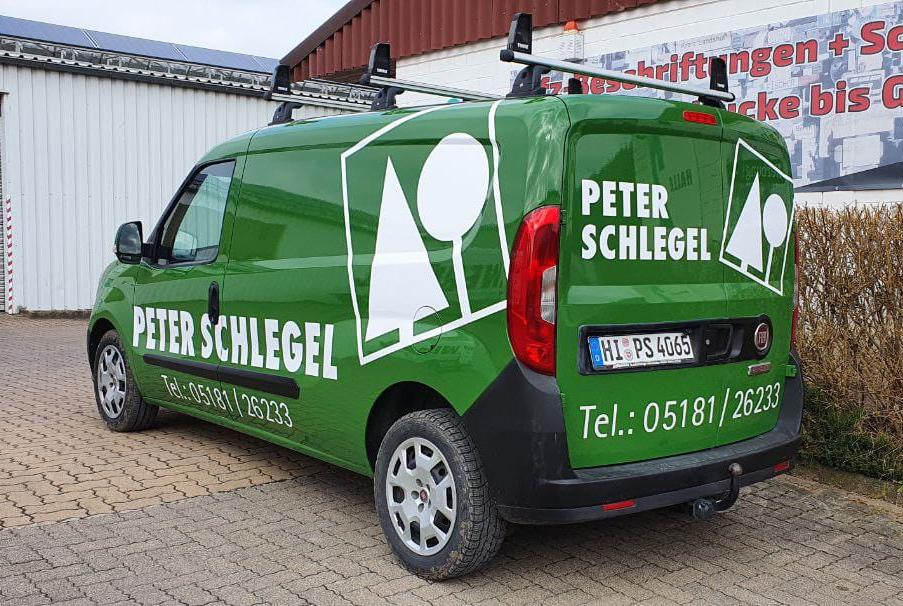 Neue KFZ-Beschriftung für Peter Schlegel