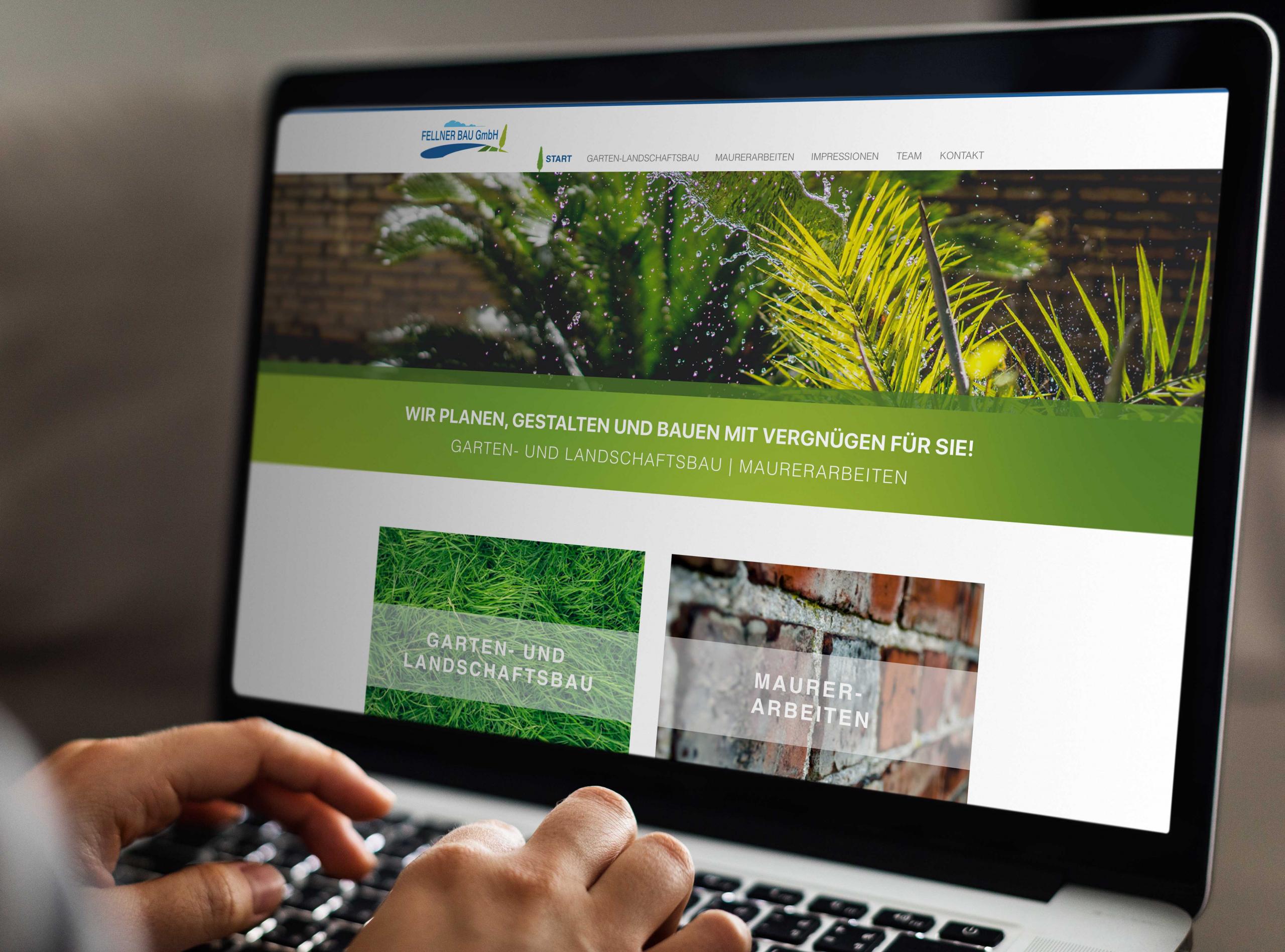 Webdesign für Fellner Bau aus Freden