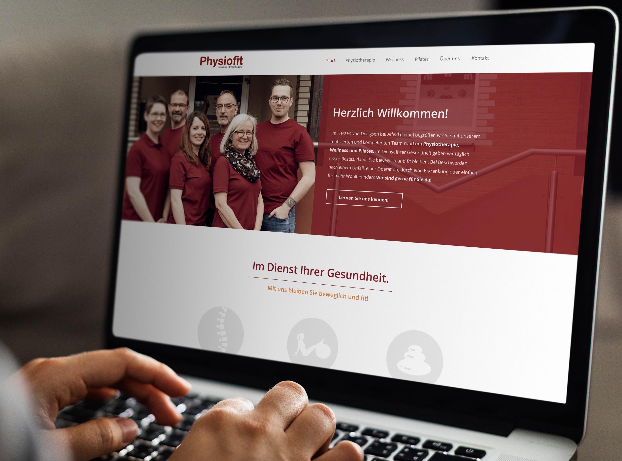 Webdesign für die Physiotherapie-Praxis Physiofit aus Delligsen