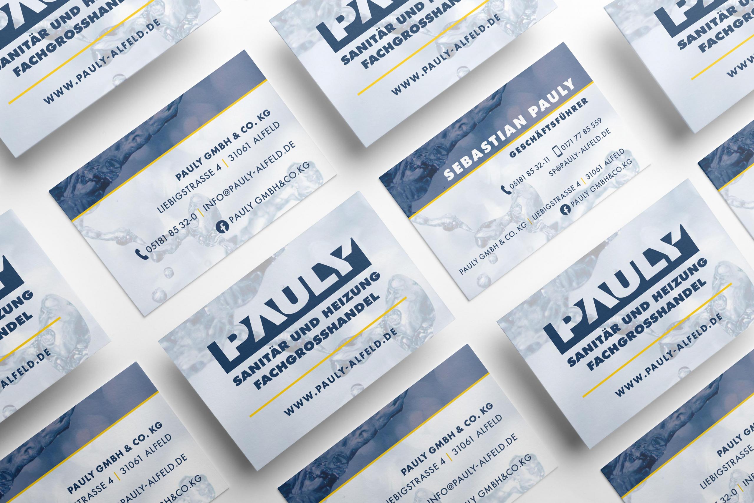 Grafik Design – Neue Visitenkarten für Pauly Alfeld